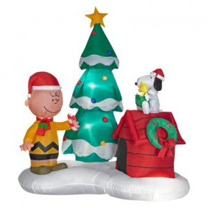 gemmy inflatable christmas snoopy and charlie brown - Disney Christmas Inflatables