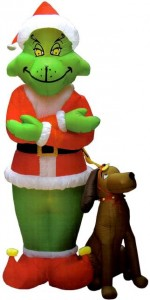 inflatable holiday decorations featuring the grinch inflatable grinch