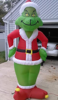 inflatable grinch yard decoration - Blow Up Christmas Decorations