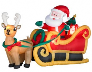 Inflatable Santa in a sleigh