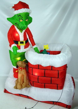 the grinch on the chimney