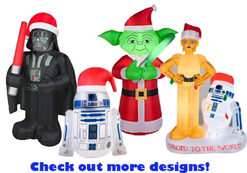 star wars christmas inflatable - Star Wars Blow Up Christmas Decorations